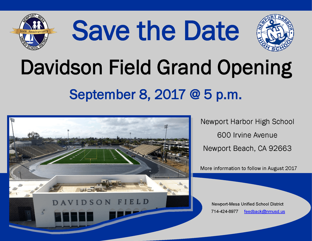 Davidson Field Grand Opening Invitation