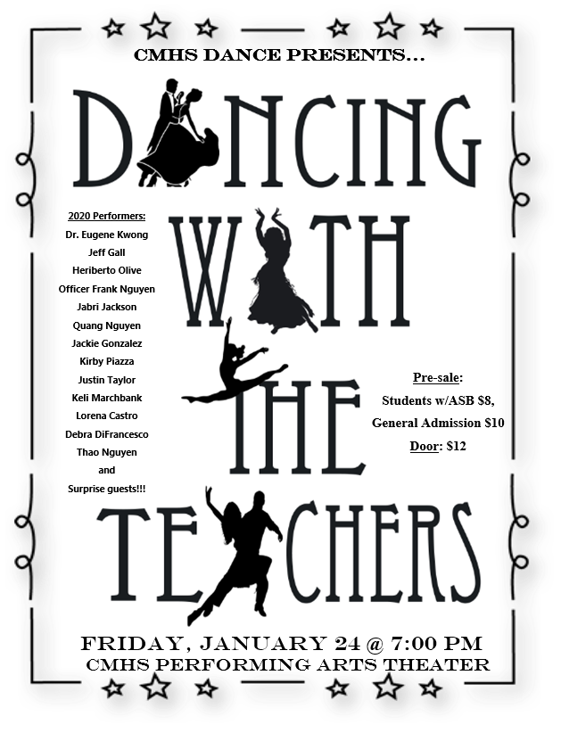 Costa Mesa High Dancing With the Teachers flyer