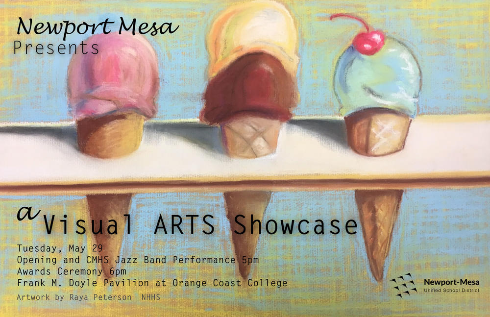 flyer for district Visual Arts Showcase