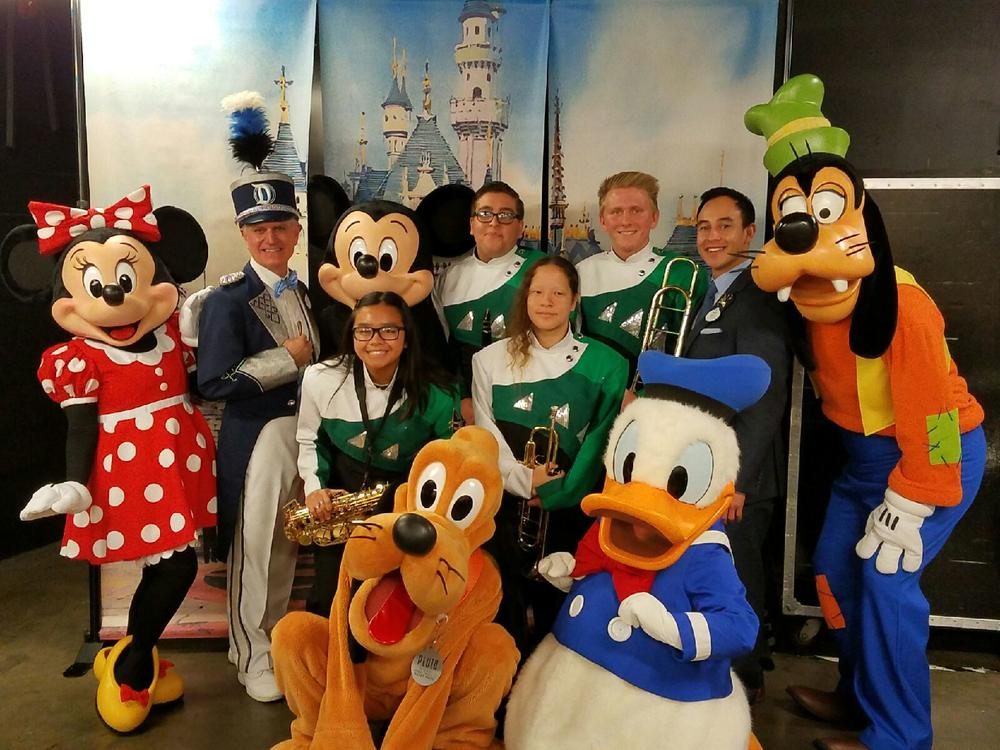 Costa Mesa band members and Disney cast