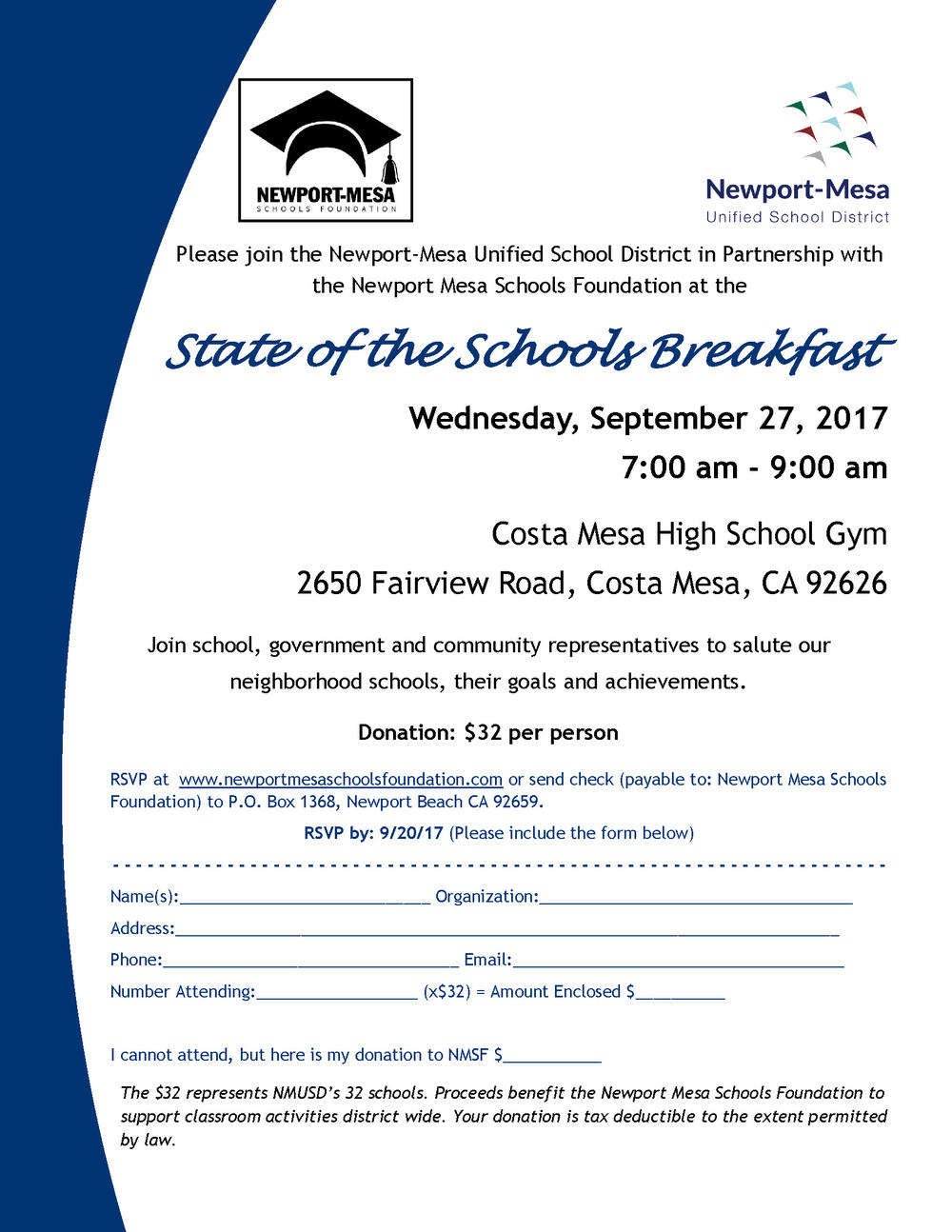 State of the Schools Invite