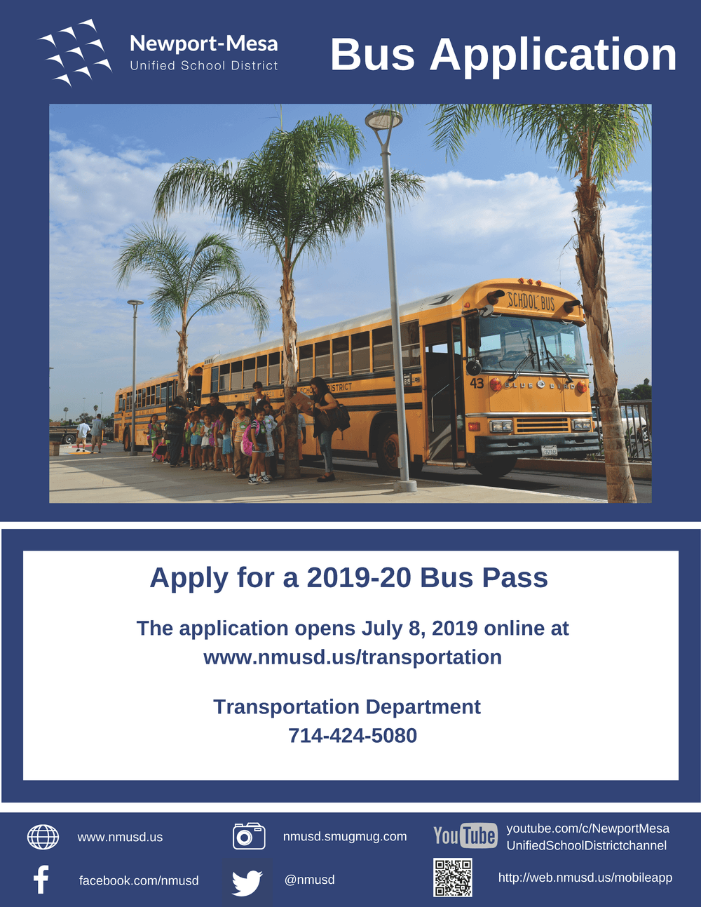 Bus Pass Application Flyer