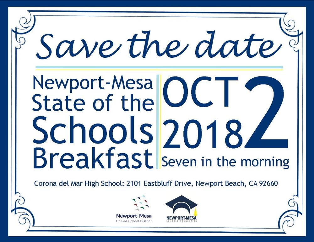 State of the Schools Breakfast Save the Date