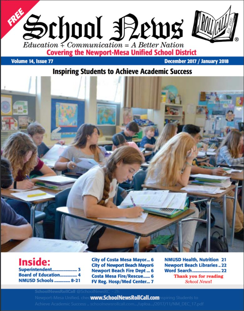 School News Magazine Cover