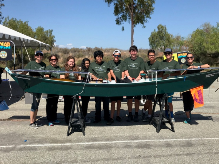 Students and Faculty Showcase their Single-Seat Solar Powered Boat