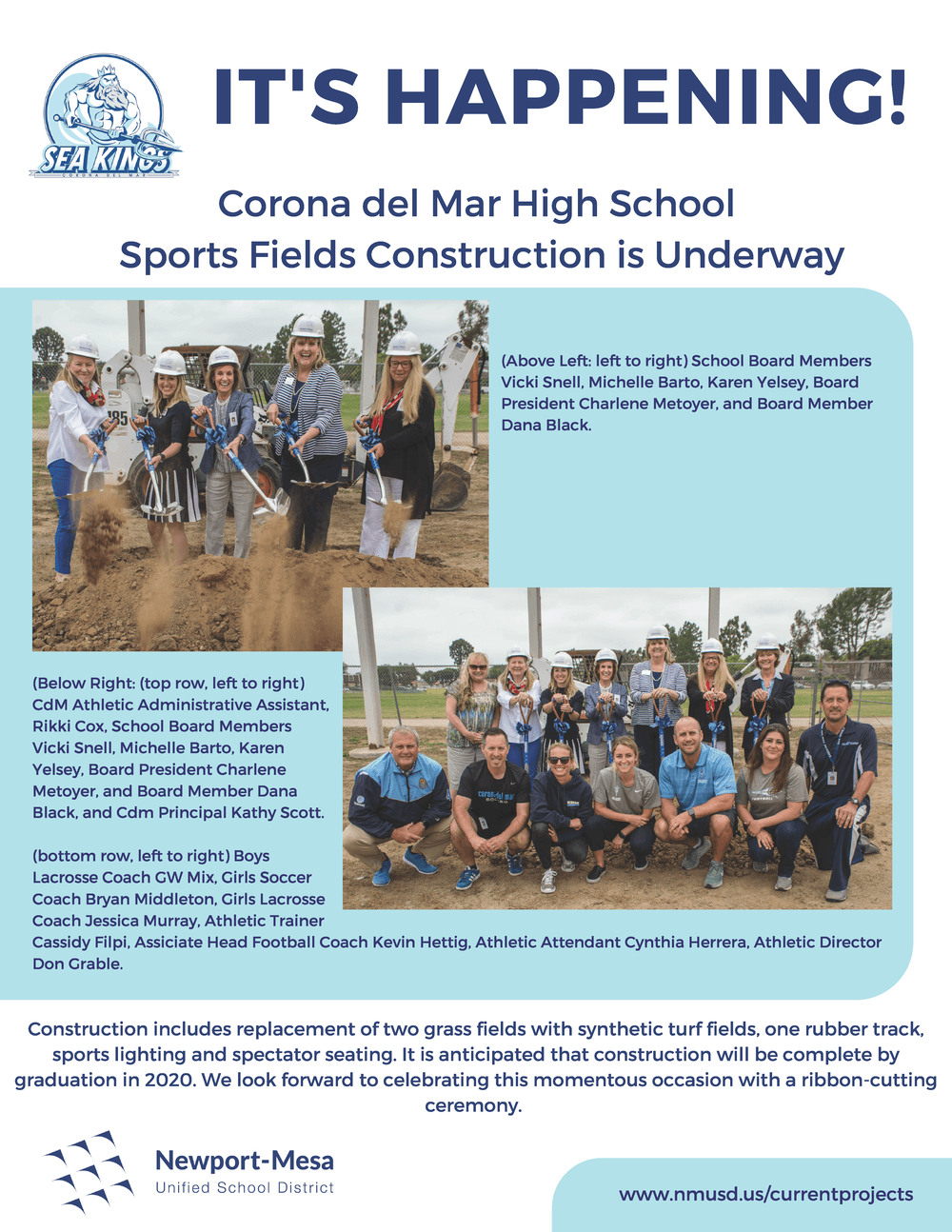 CdMHS Construction Announcement