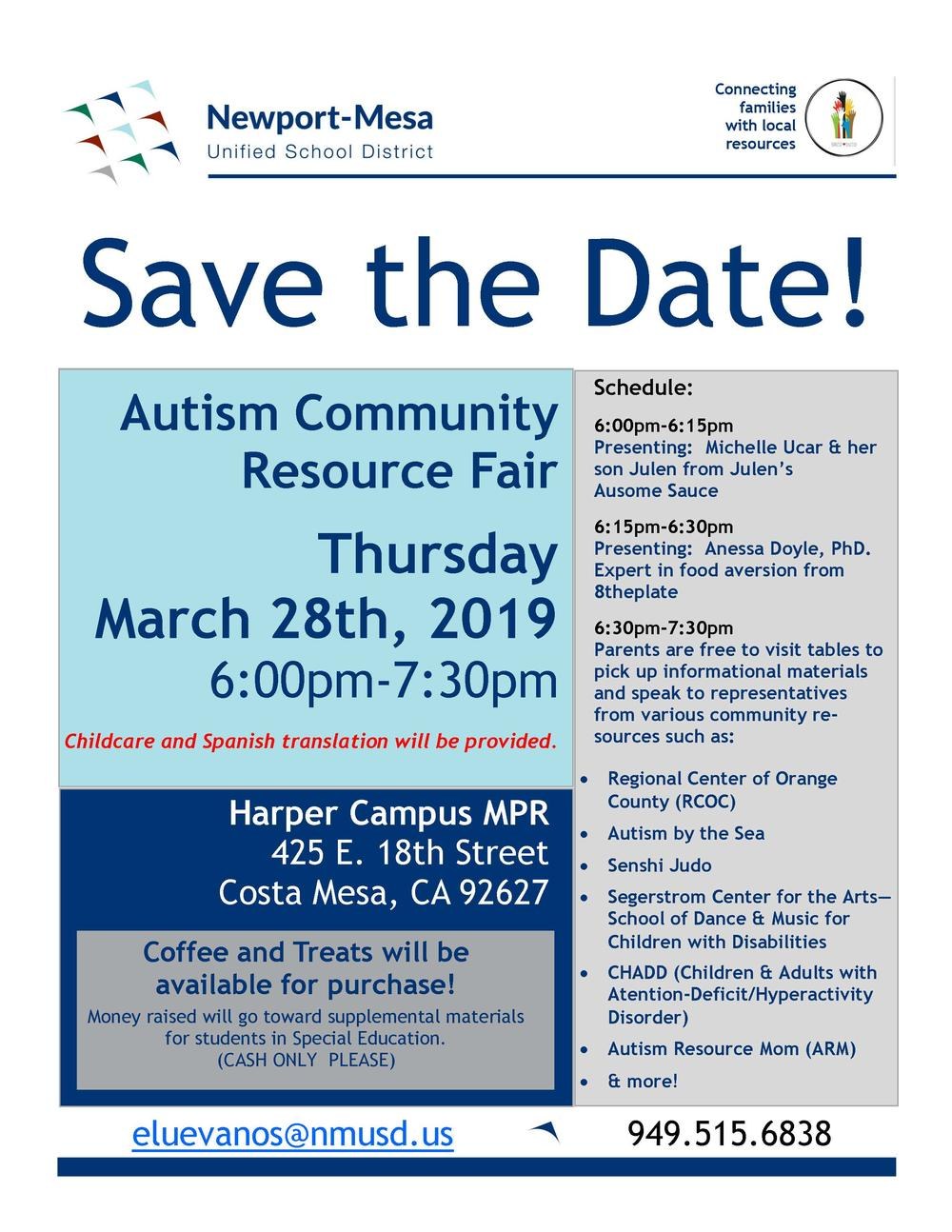 Autism Community Resource Fair