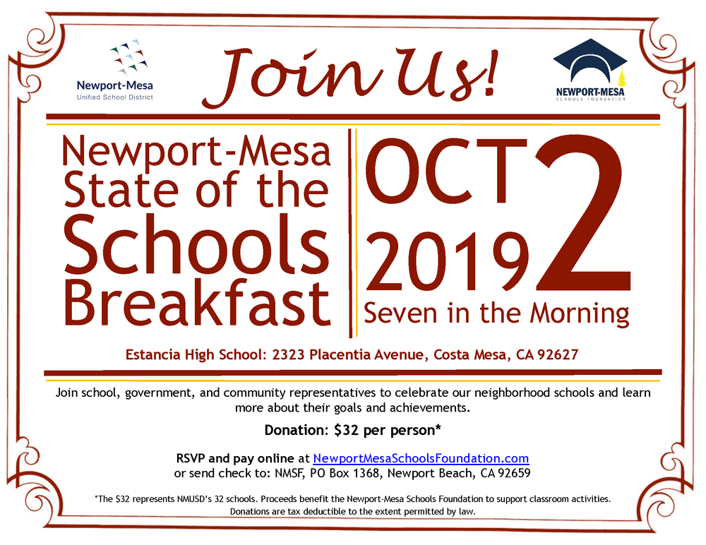 State of the School Breakfast Invite
