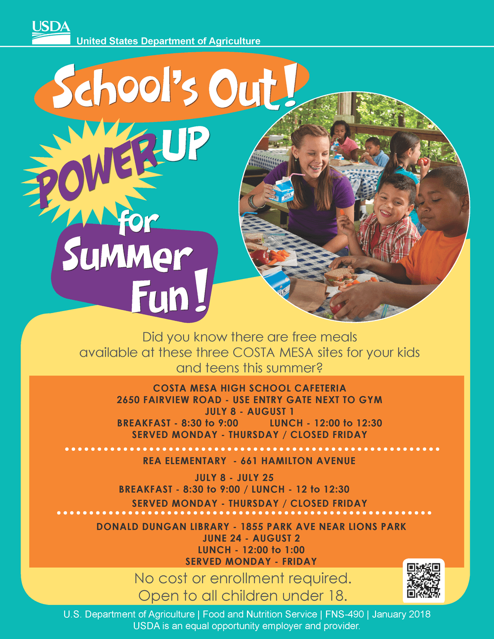 Free Summer Meal Flyer