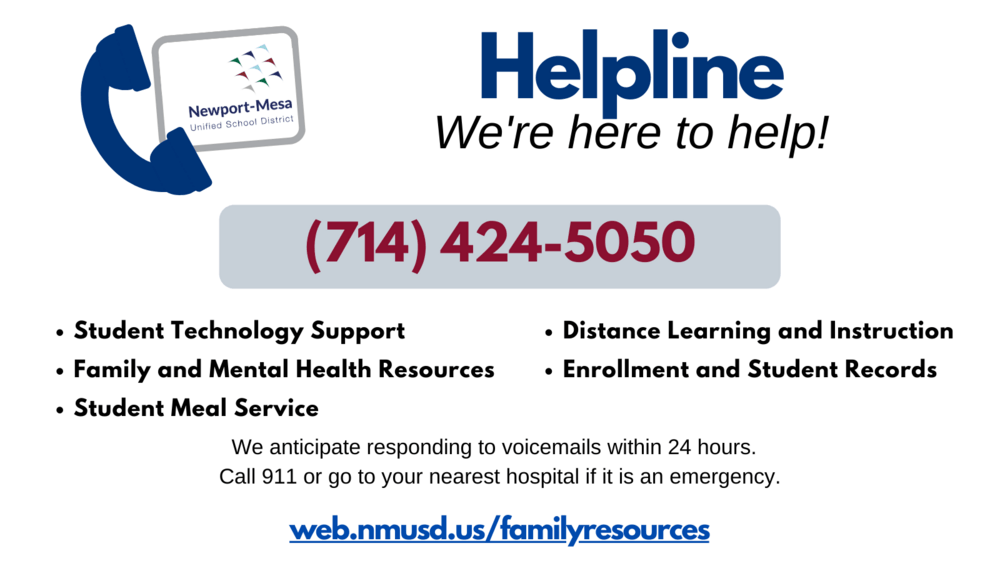 Support and Care Line Flyer - English and Spanish