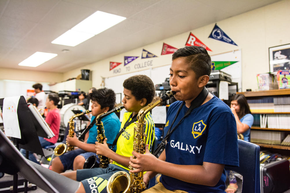 Students in Summer Music Program