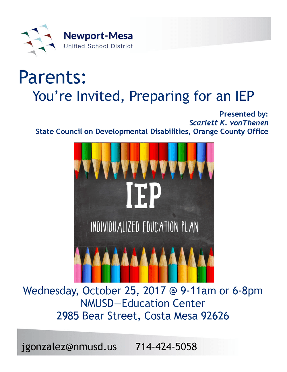Preparing for an IEP Flyer