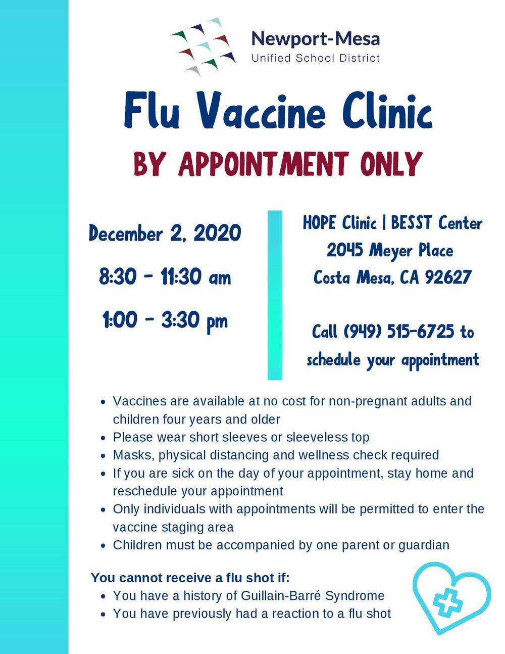 flu vaccine Clinic flyer